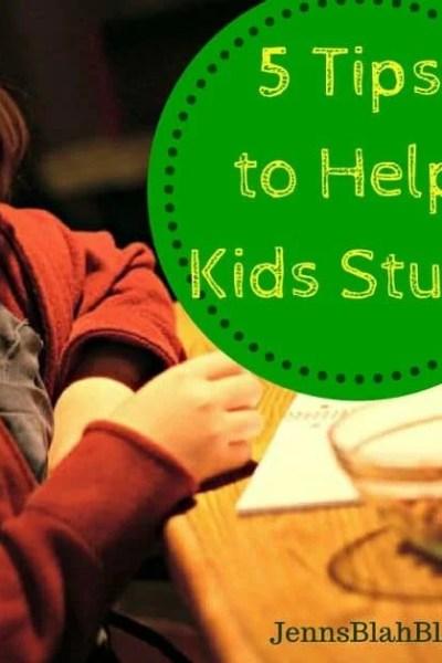 5 Tips to Help Kids Study