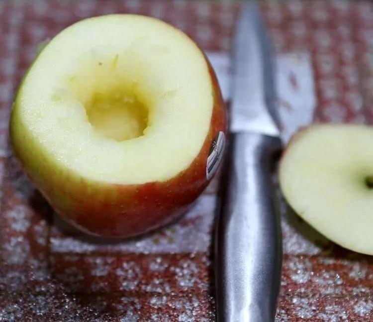 cored apple