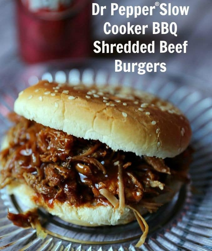 dr pepper slow cooker shredded bbq beef sandwich
