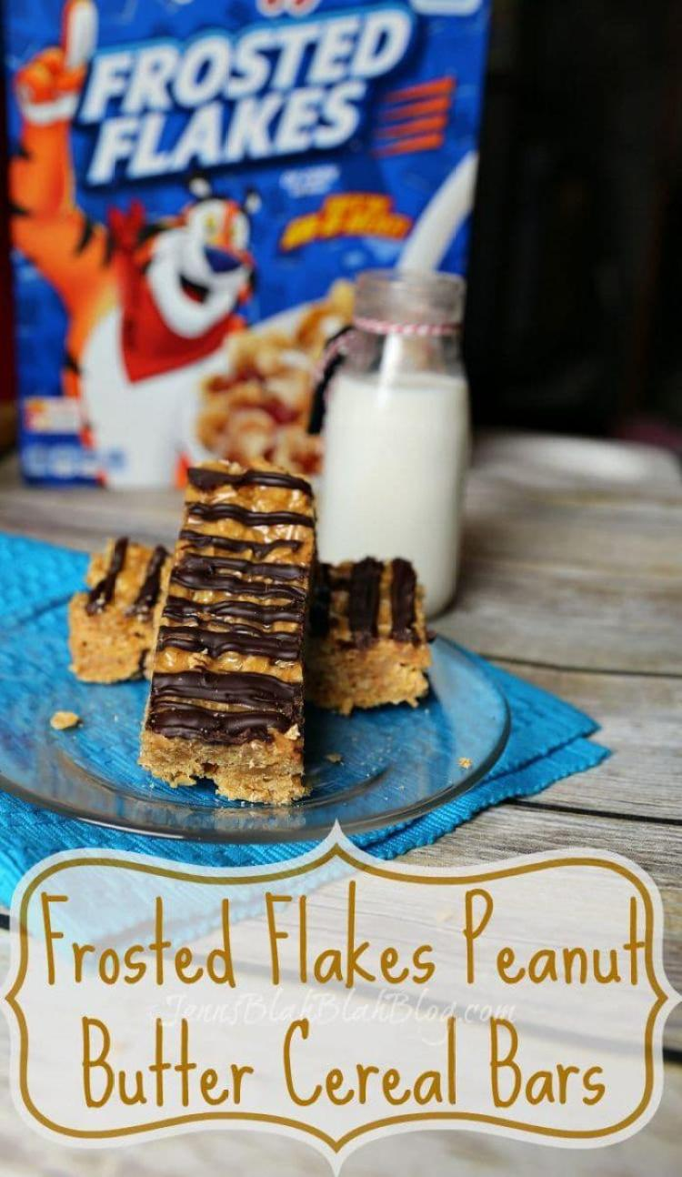 No Bake Frosted Flakes Peanut Butter Cereal Bars Recipes