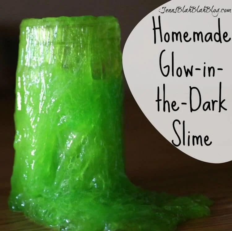 Easy Homemade Glow-in-the-Dark Slime Recipe Glow In The Dark Slime Recipe