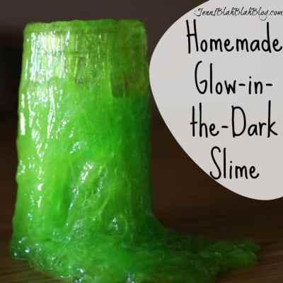 Homemade Glow-in-the-Dark Slime Recipe
