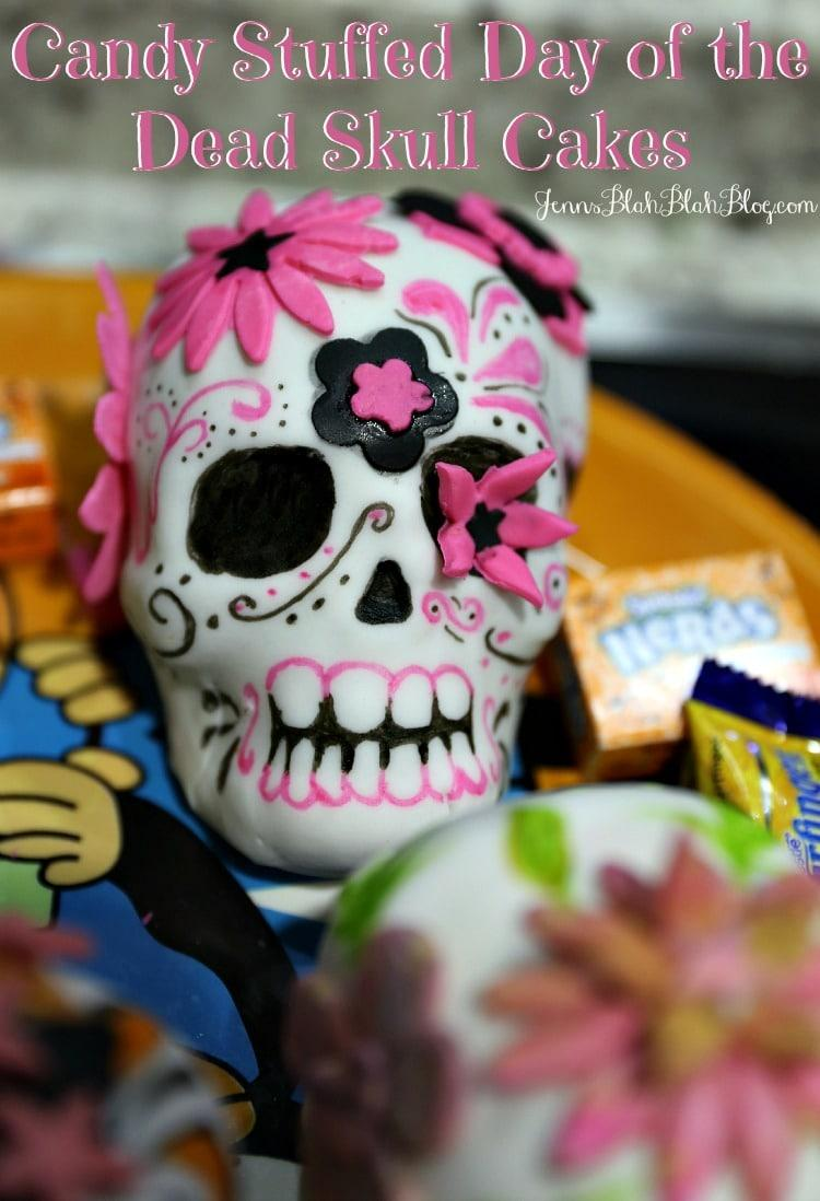 Candy Stuffed Day of the Dead Skull Cakes