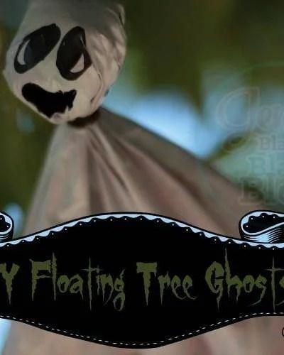Easy DIY Floating Tree Ghosts for Halloween
