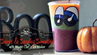 Sweet & Spooky Smoothie with Magic Chef's Ice Maker