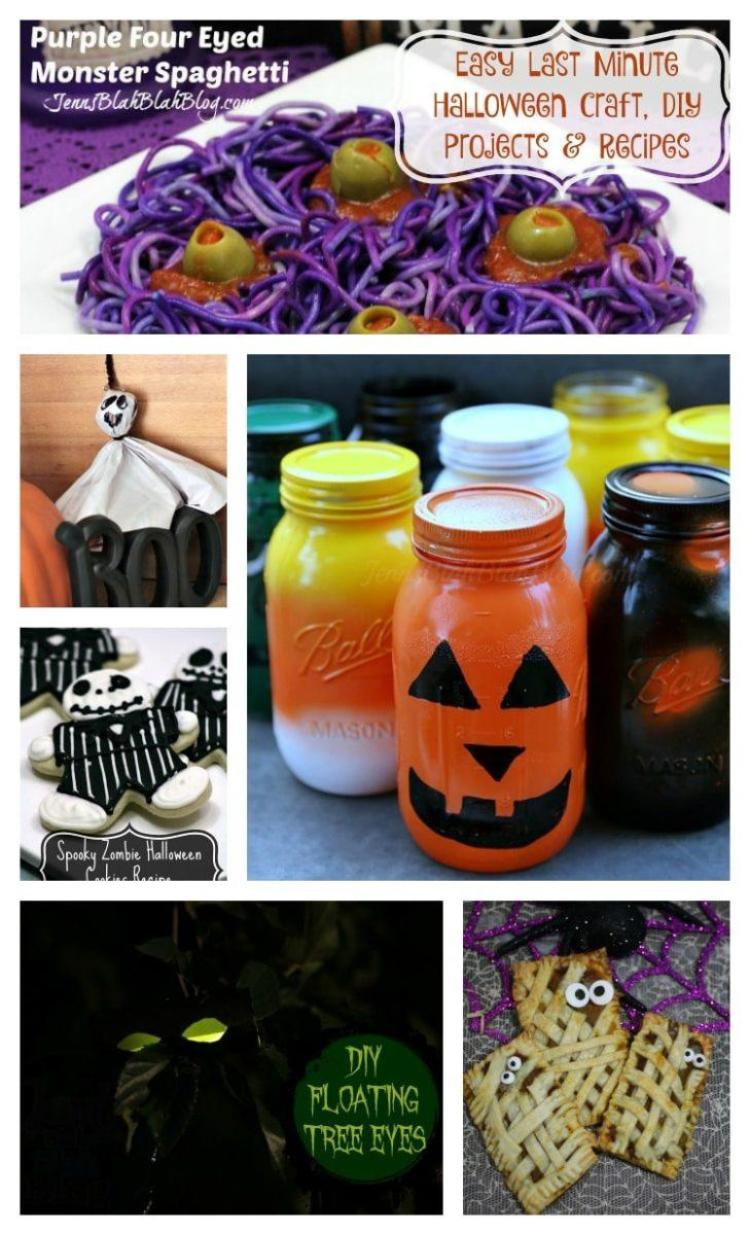 last minute halloween crafts, diy projects and recipes