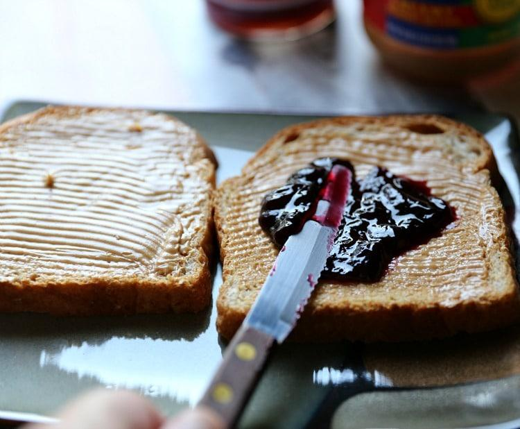 peanut butter and jell on bread