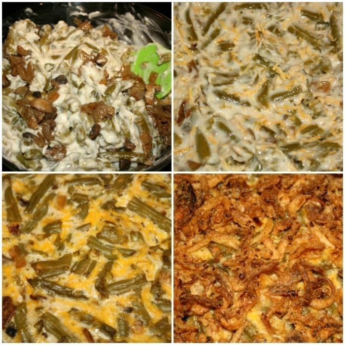 Green Bean Casserole Stages