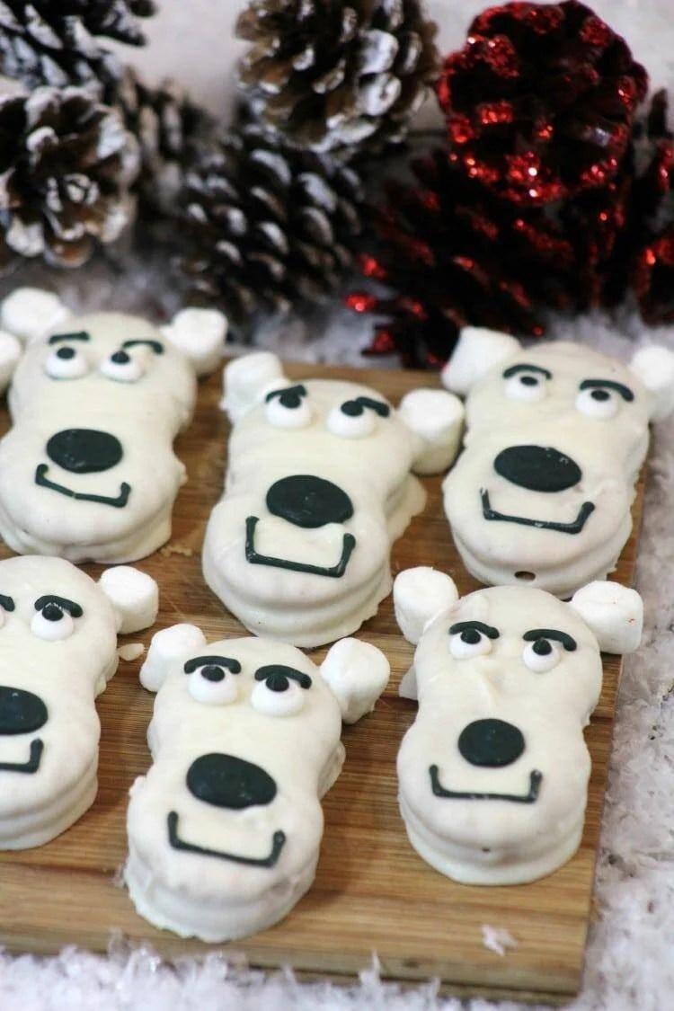 cute polar bear cookies for Christmas