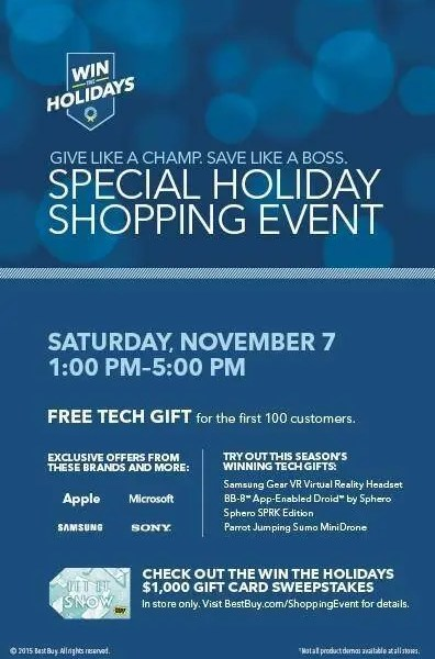 Best Buy Special Holiday Shopping Event + Sweepstakes
