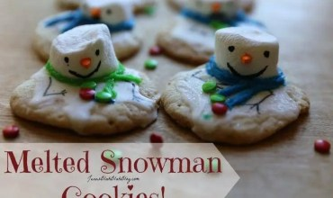 Melting Snowman Chewy Sugar Christmas Cookie Recipe