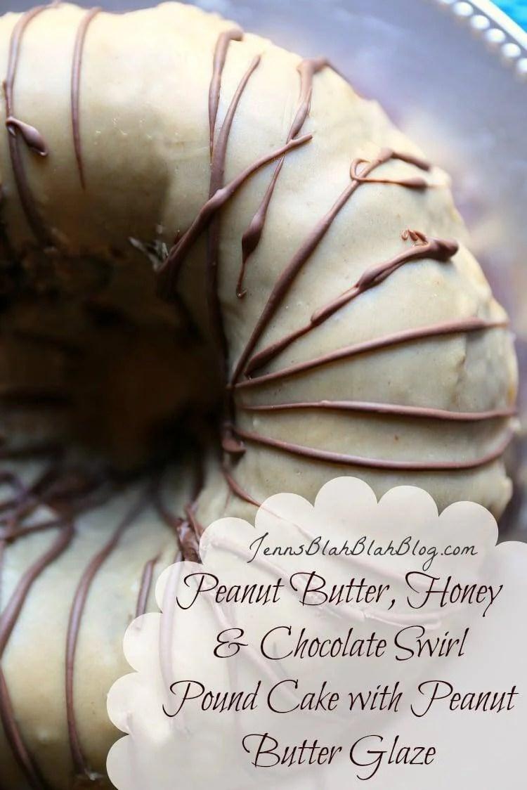 Chocolate Peanut Butter Swirl Pound Cake