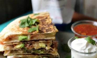 Super Quick & Easy Chicken & Avocado Quesadillas