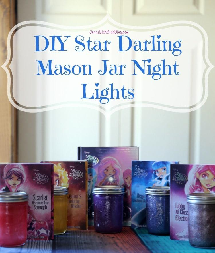 DIY Star Darling Mason Jar Night Lights for Kids