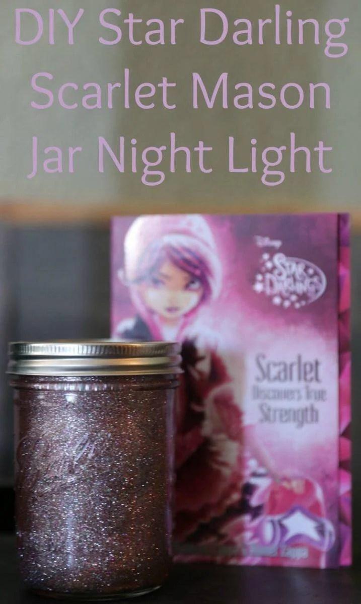 DIY Star Darling Mason Jar Night Lights