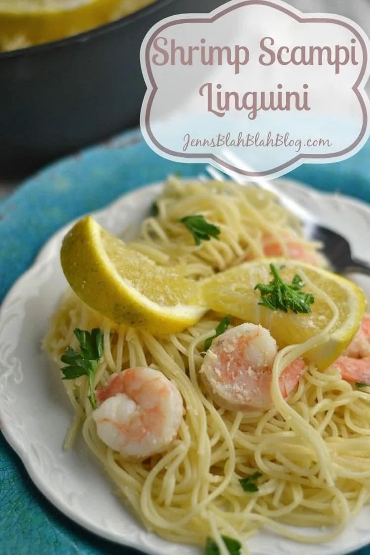 Shrimp Scampi Linguini Pasta Recipe