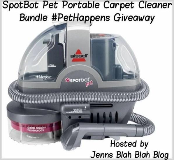 SpotBot Pet Portable Carpet Cleaner Bundle Pet Happens Giveaway