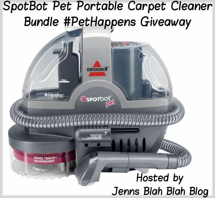 SpotBot Pet Portable Carpet Cleaner Bundle Pet Happens Giveaway