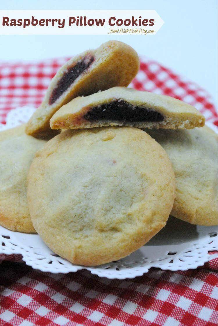 YUMMY! Raspberry Pillow Cookies Recipe