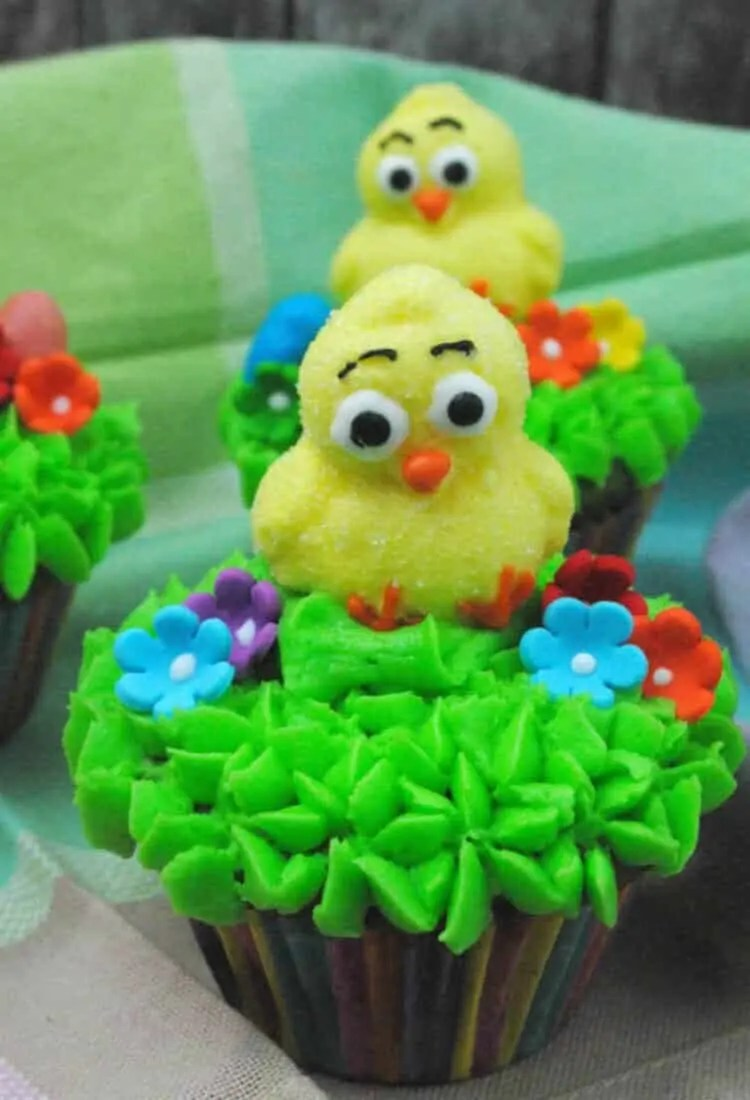 Cute Easter Ducky Cupcake Recipe