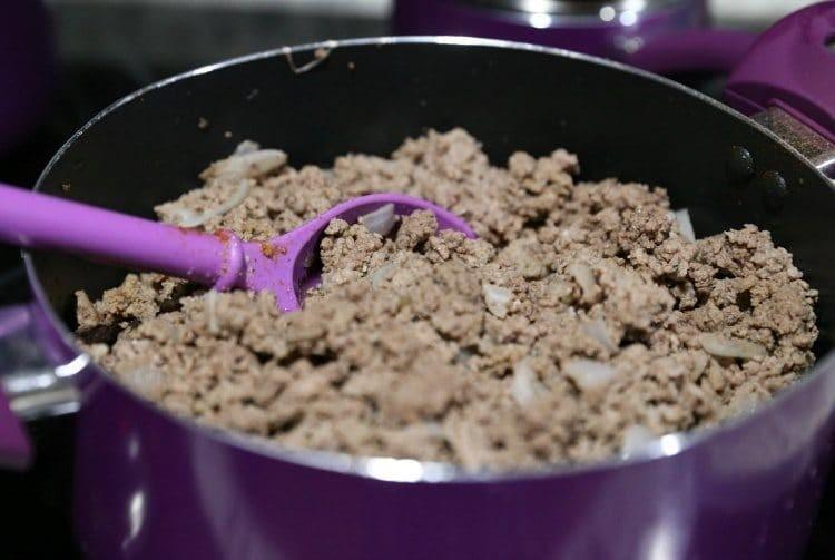 Browning Hamburger Meat & Onions