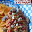 Stuffed Green Chili & Mushroom Bacon-Wrapped Burger Dog