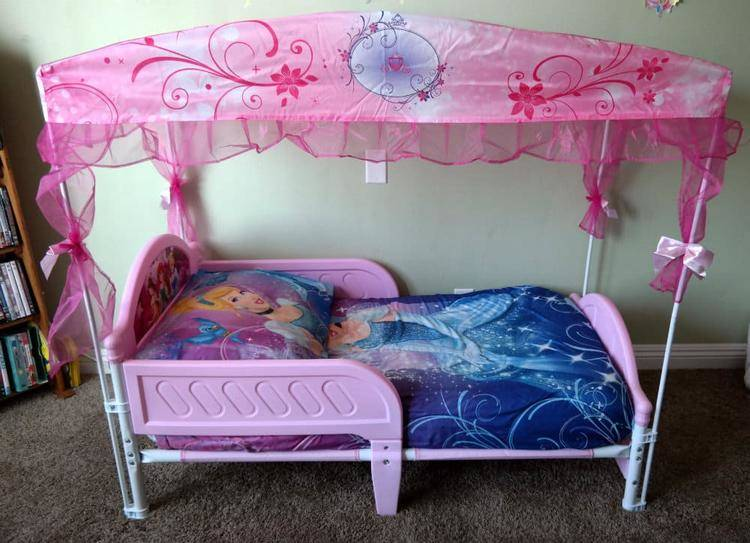 Amazing deltachildrn princess toddler bed full min
