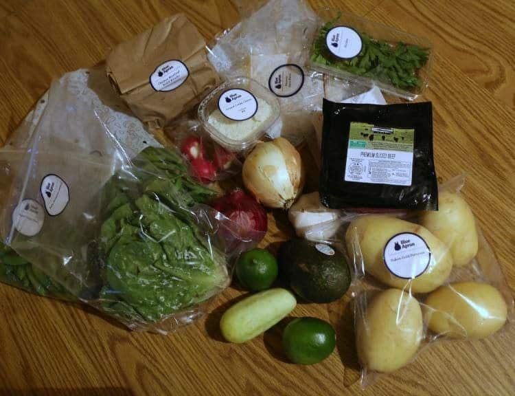 Blue Apron Veggies