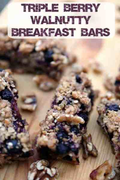 Triple Berry Walnutty Cereal Bars Recipe