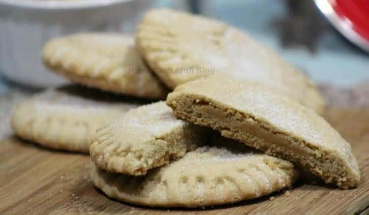 Peanut Butter Filled Peanut Butter Cookies