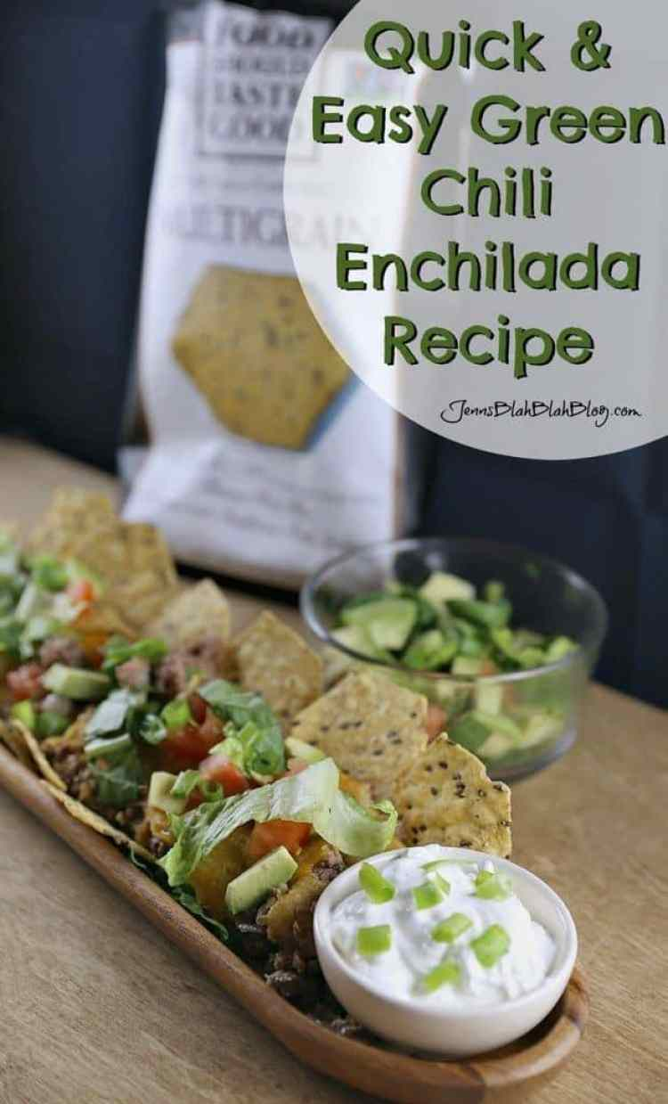 Quick Easy Makeup Tips Ideas For Work: Quick & Easy Green Chili Chip Enchiladas Recipe