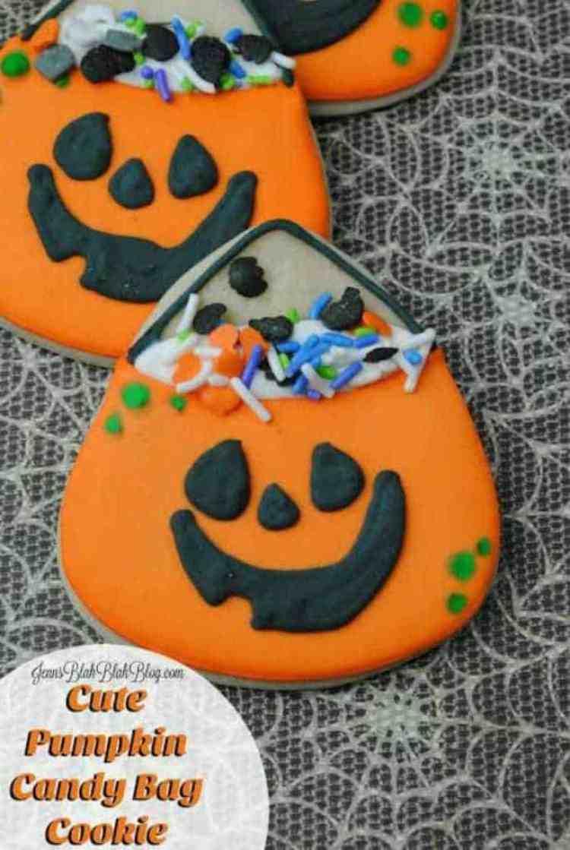 Cute Pumpkin Cookie Bag Cookies