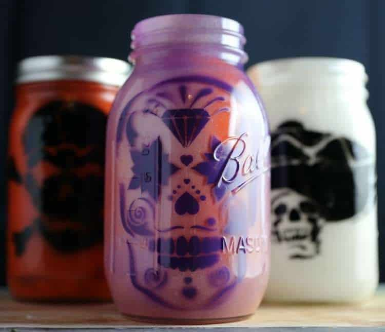 DIY Day of the Dead Mason Jar Lanterns