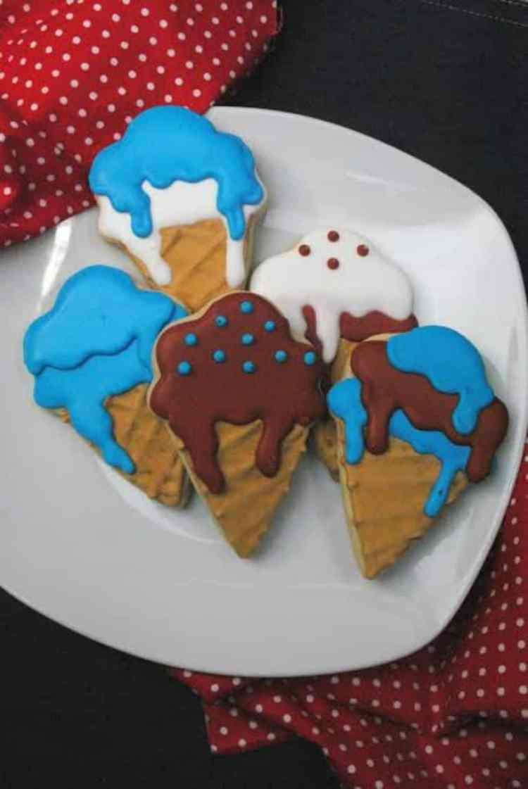 Super Duper Cute Ice Cream Cone Cookies