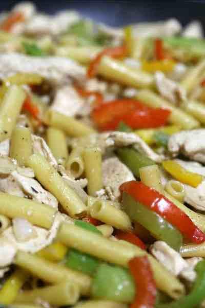 One Pot Chicken Fajita Pasta Recipe