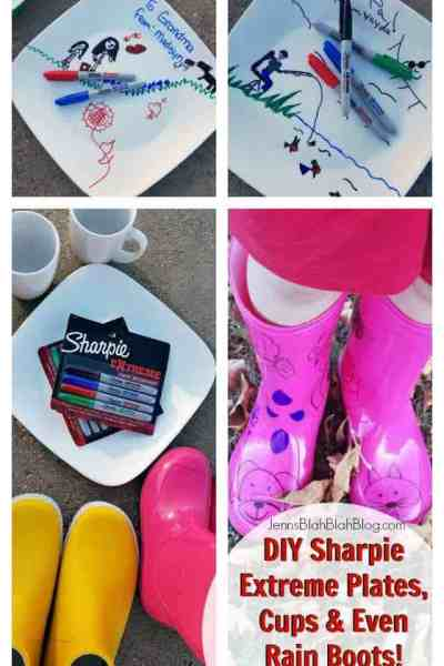 DIY Sharpie Extreme Plates, Cups & Even Rain Boots!