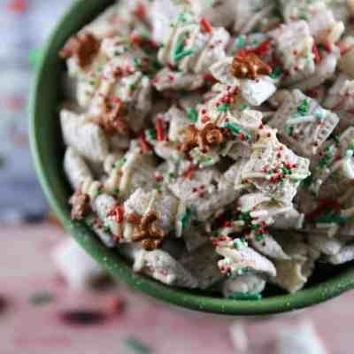 Christmas Sugar Cookie Chex Mix Recipe