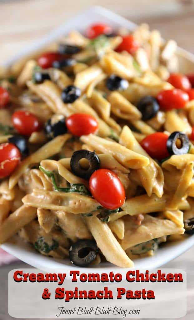 To make the Creamy Tomato Chicken & Spinach Pasta you'll need the ...