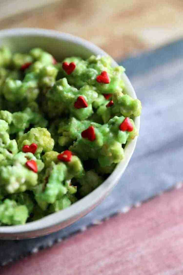 Grinch Christmas Candy Popcorn