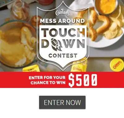Enter to Win $500 in the Mess Around Touchdown Recipe Contest
