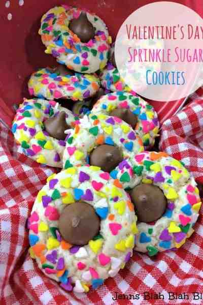 Valentine's Day Sprinkle Sugar Cookies