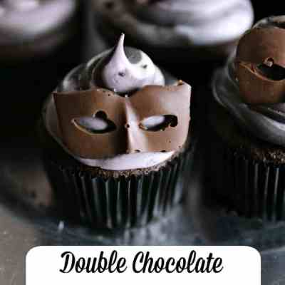 Double Chocolate Cherry Maskette Cupcakes | Fifty Shades Darker