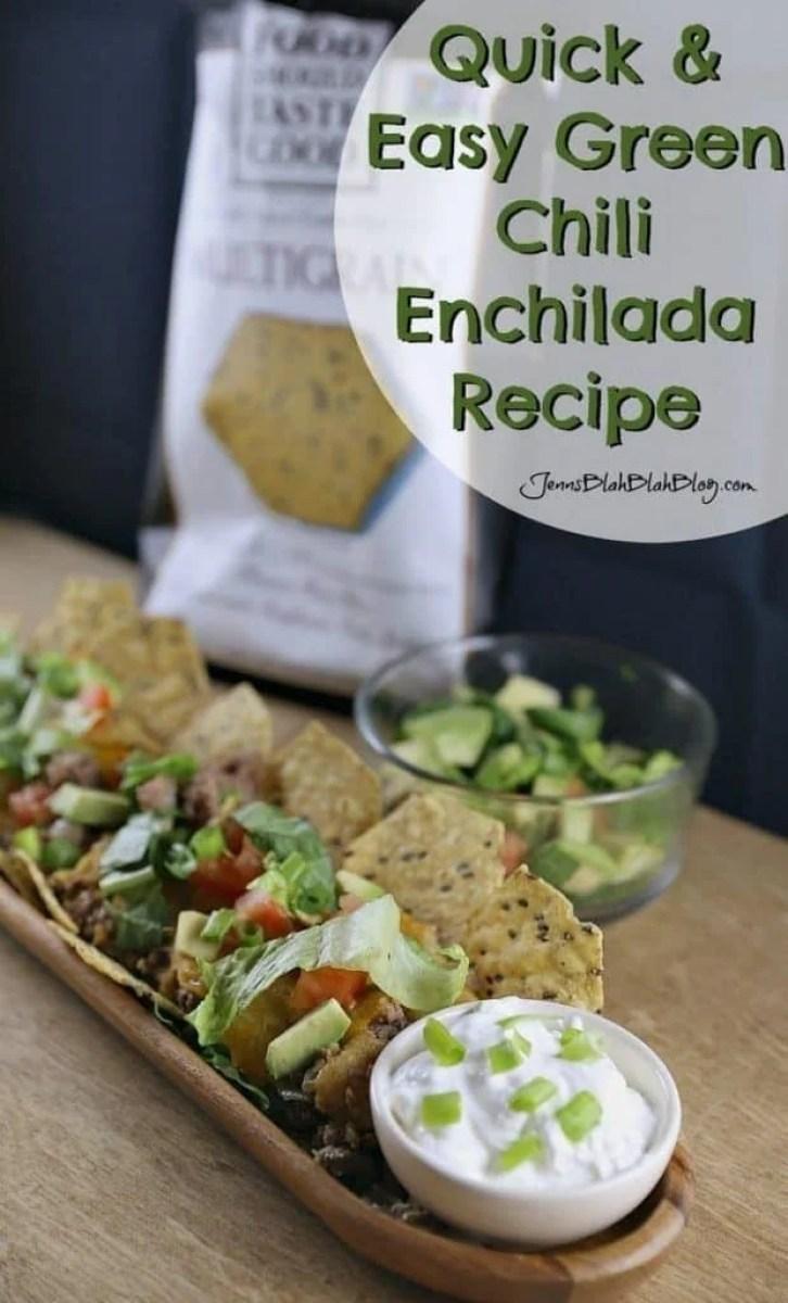 Quick & Easy Green Chili Enchiladas