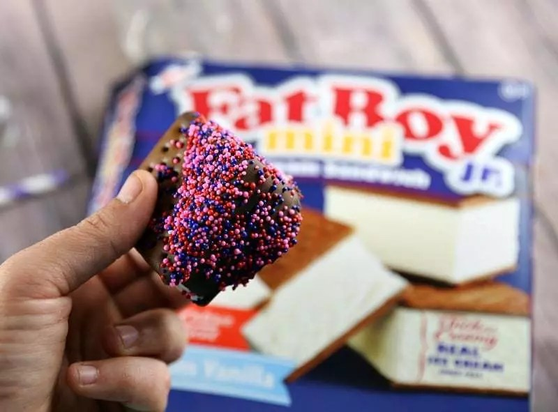 Chocolate Dipped FatBoys Mini's with Sprinkles