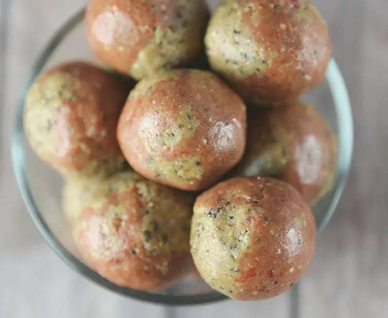 Peanut Butter & Jelly Protein Balls