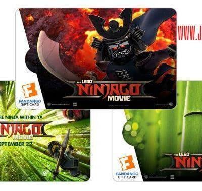 Win a $50 Fandango THE LEGO NINJAGO Movie collectible gift card Giveaway