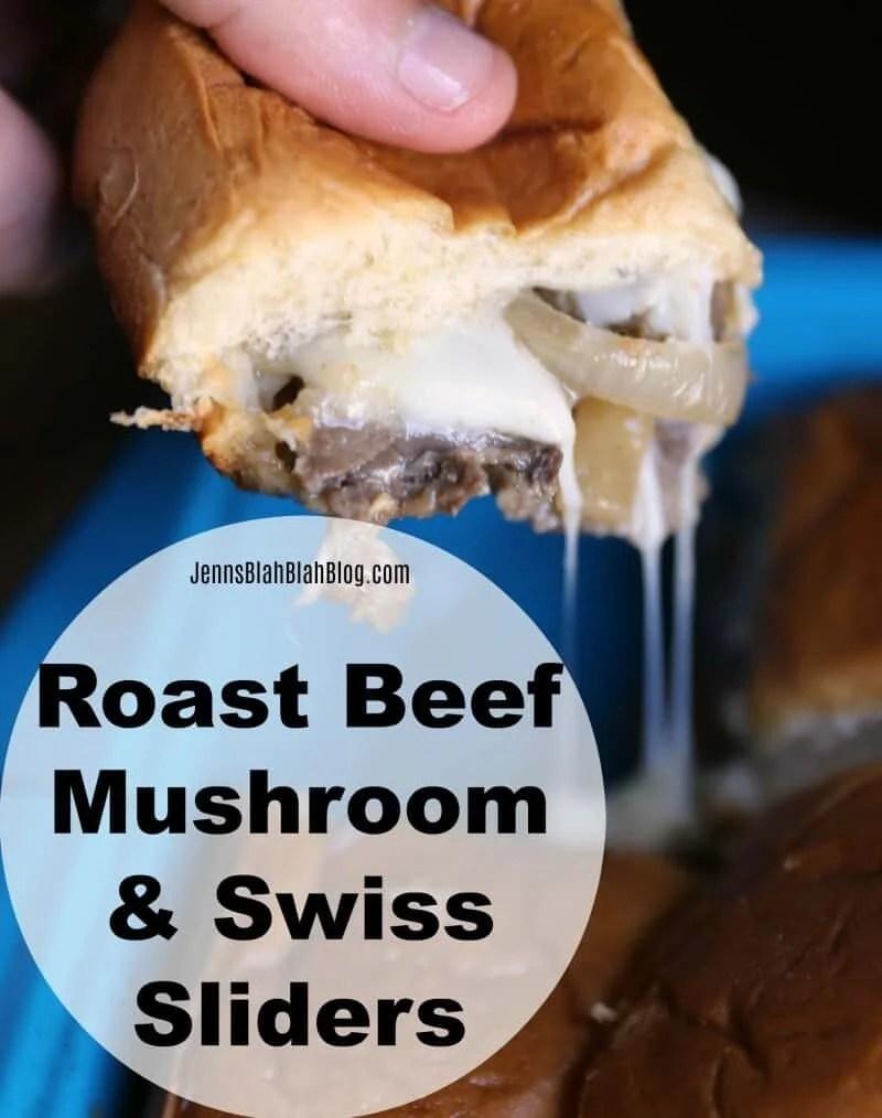 Roast Beef Mushroom & Swiss Sliders