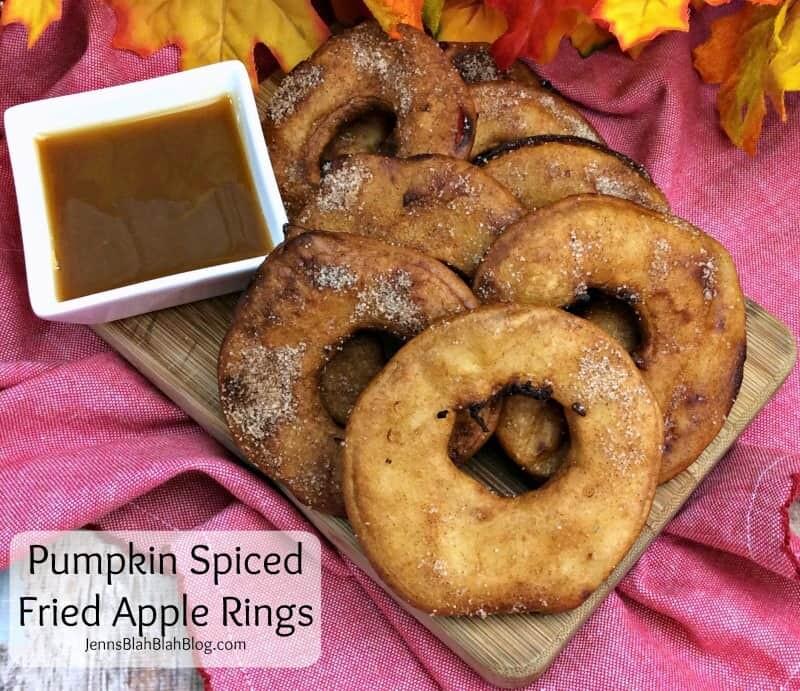 Pumpkin Spiced Fried Apple Rings