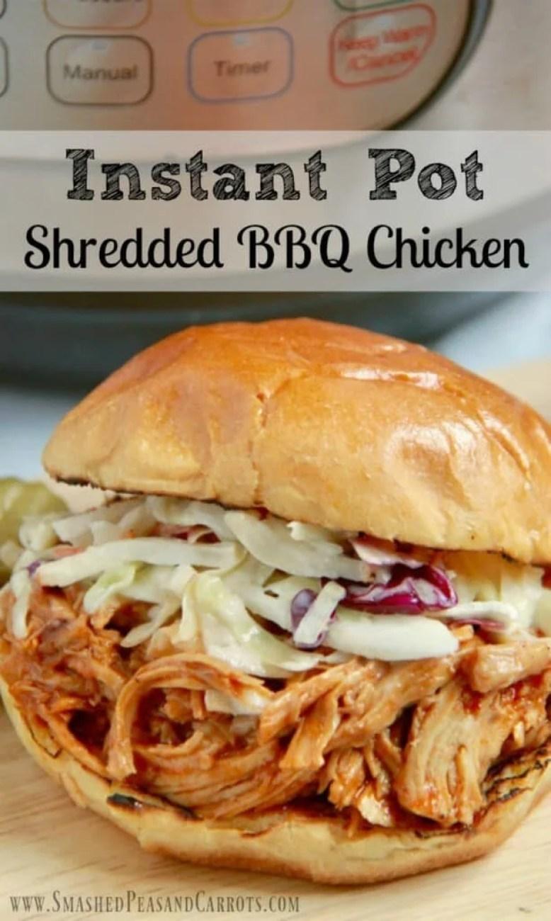 Instant Pot Shredded BBQ Chicken