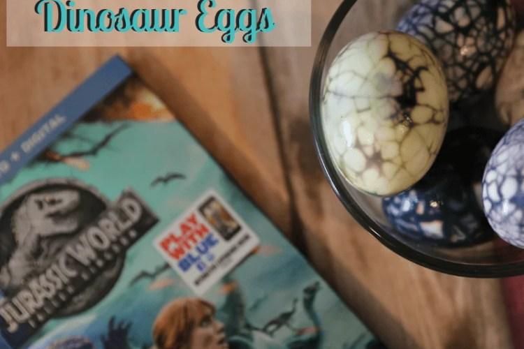 DIY Hard-Boiled Jurassic World Dinosaur Eggs + Giveaway
